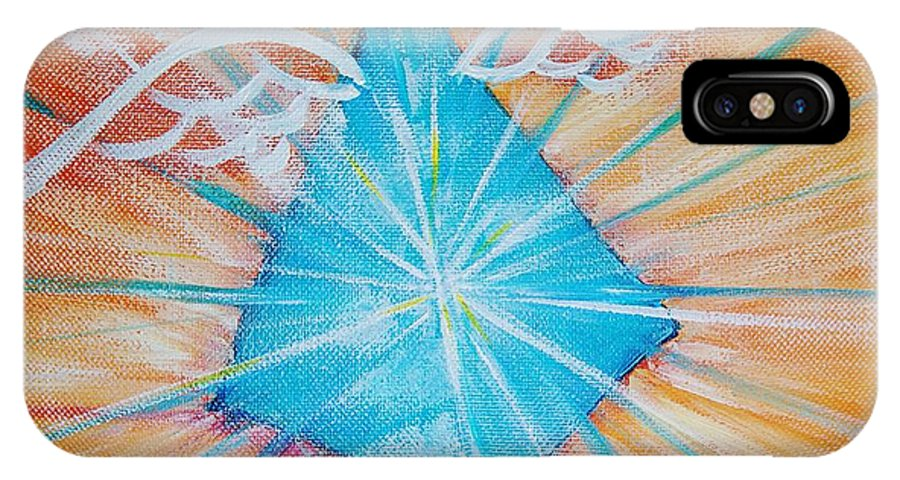 Goddess IPhone X Case featuring the painting Isis Essence by Tara Moorman