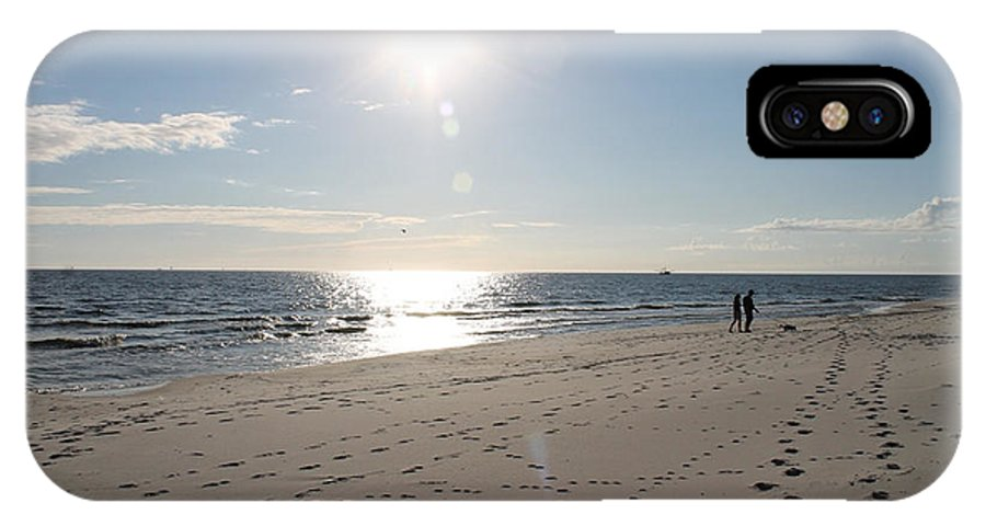 Beach IPhone X Case featuring the photograph Island Beachwalkers by Laura Martin