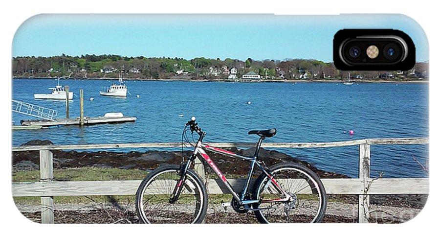 Bike IPhone X Case featuring the photograph Island Bike by Faith Harron Boudreau