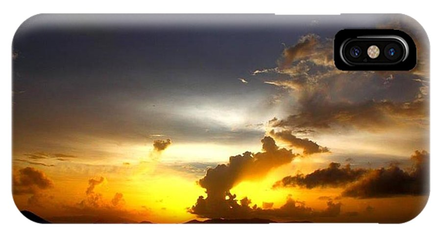 Sunrise IPhone X Case featuring the digital art Island Morning Sunrise by Dawn Johansen