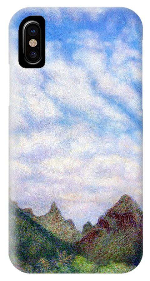 Coastal Decor IPhone X Case featuring the painting Island Sky by Kenneth Grzesik