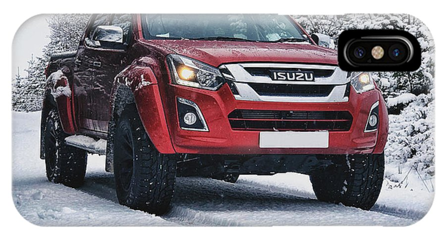Snow IPhone X Case featuring the photograph Isuzu In The Snow by Carlton Boyce