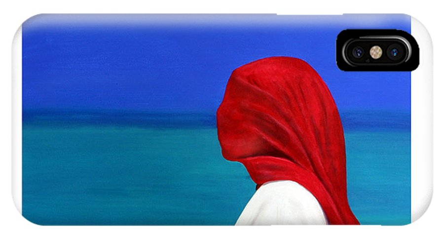 Red IPhone Case featuring the painting It Could Be You by Fiona Jack
