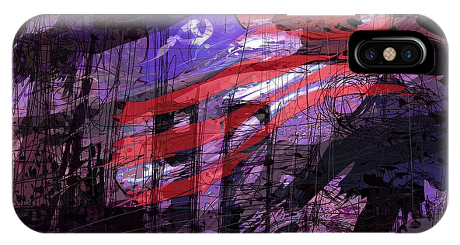 Political IPhone X Case featuring the digital art It Was Only A Dream . . . by Rachel Christine Nowicki