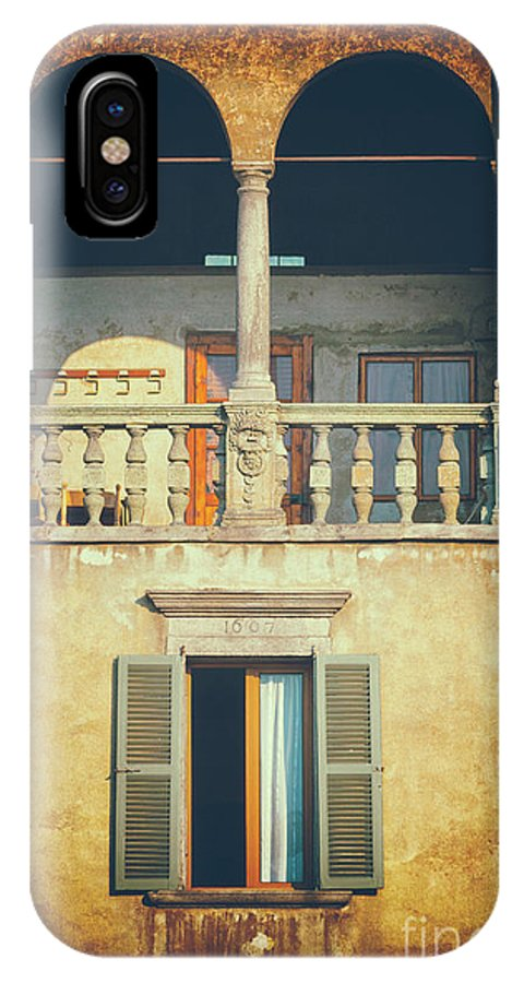 Arched IPhone X Case featuring the photograph Italian Arched Balcony by Silvia Ganora
