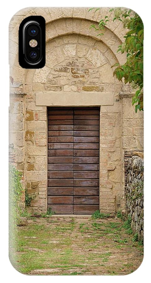 Italy IPhone X Case featuring the photograph Italy - Door Twenty Five by Jim Benest