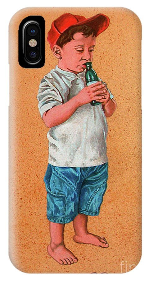Summer IPhone Case featuring the painting It's A Hot Day - Es Un Dia Caliente by Rezzan Erguvan-Onal