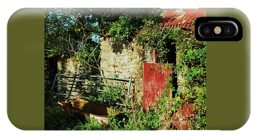 Ireland Outdoors County Cork Ruined Cottage Rusty Corrugated Roof Foliage Bathtub Broken Gate Stone Walls Collectible Travel Whimsical Old Garden Canvas Print Metal Frame Poster Print Available On Greeting Cards Tote Bags T Shirts Pouches Mugs Throw Pillows Shower Curtains Weekender Tote Bags And Phone Cases IPhone X Case featuring the photograph It's Bath Time by Marcus Dagan