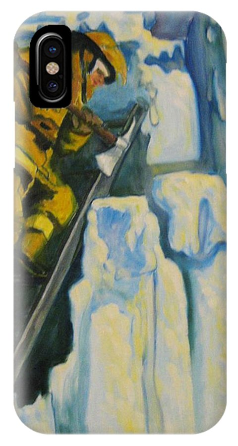 Firefighters IPhone Case featuring the painting Its Not Over Till Its Over by John Malone