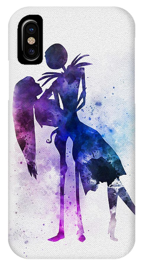 fac7e46e9bd327 Nightmare Before Christmas IPhone X Case featuring the mixed media Jack And  Sally by My Inspiration
