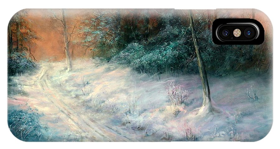 Winter IPhone Case featuring the painting Jack Frost by Sally Seago