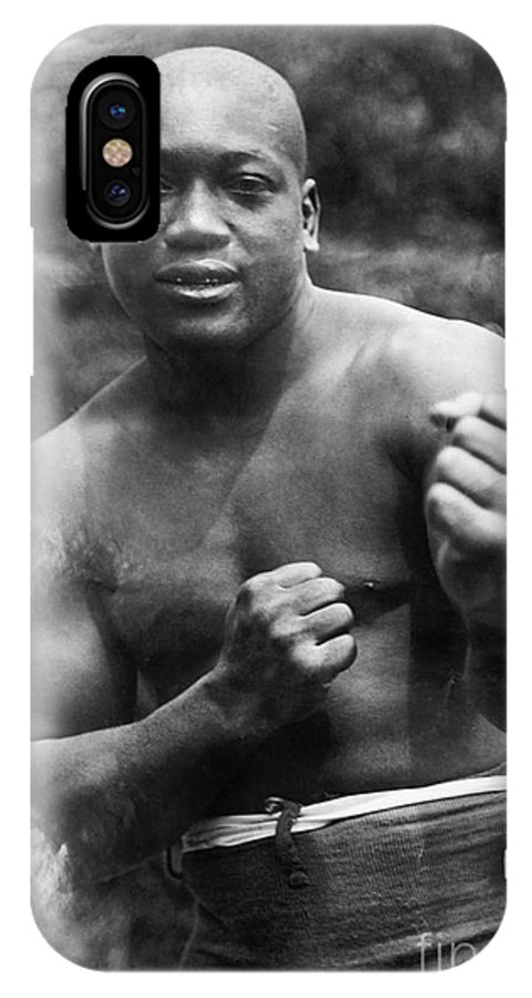 1910s IPhone X Case featuring the photograph Jack Johnson (1878-1946) by Granger