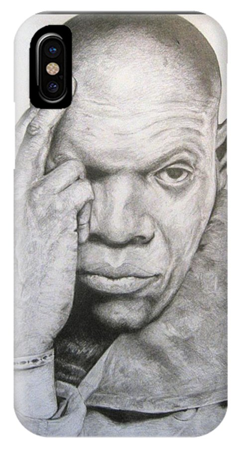 Portrait IPhone Case featuring the drawing Jackson By Kyle Anderson by Joyce Owens