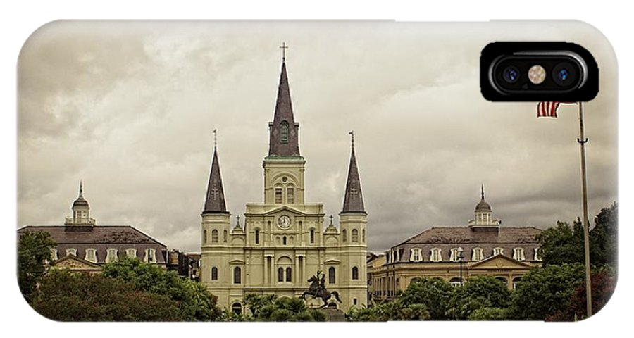 Jackson Square IPhone X Case featuring the photograph Jackson Square by Fred Hahn