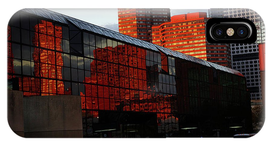 New York City IPhone X Case featuring the photograph Jacob Javits Reflections by Rich Walter