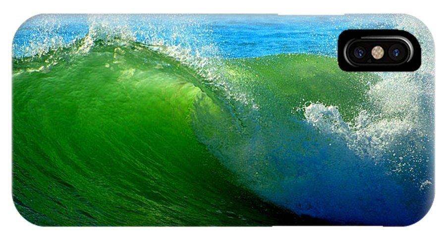 Ocean IPhone X Case featuring the photograph Jade Cascade by Dianne Cowen