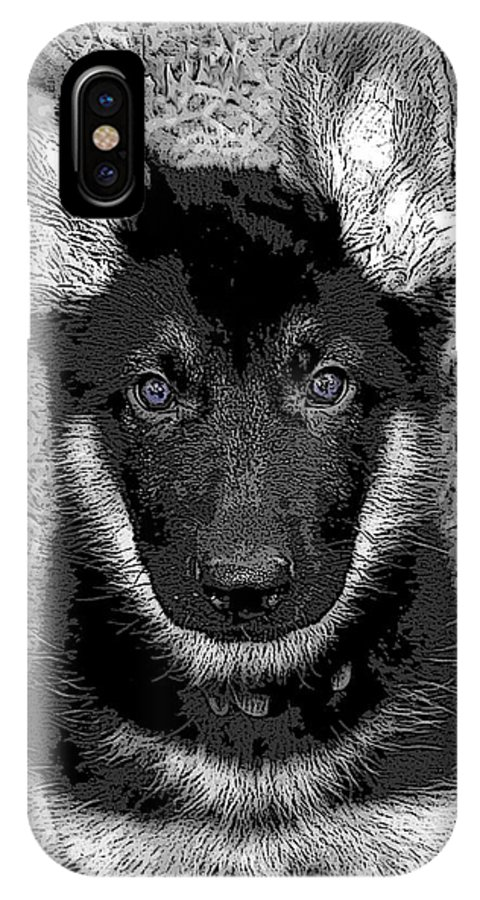 Dog IPhone X Case featuring the digital art Jager by Stacey May