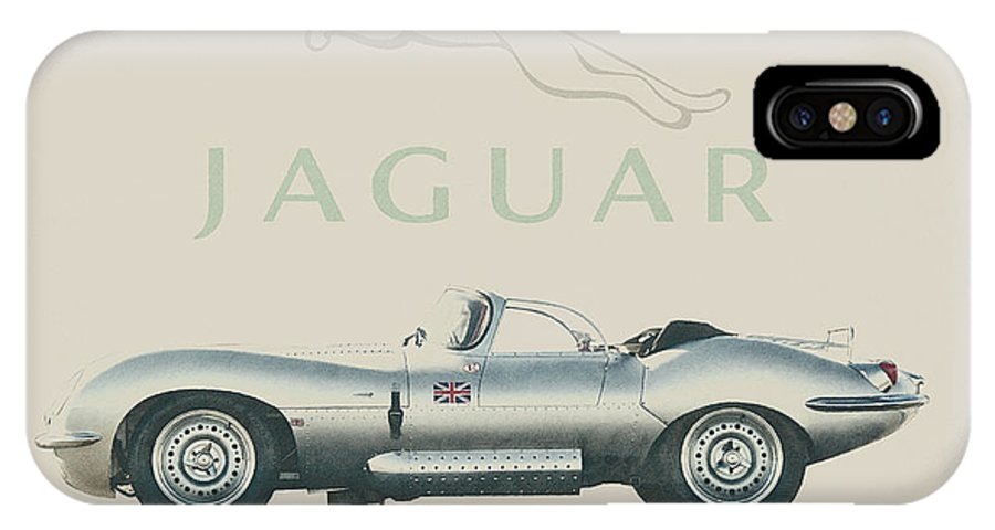 Jaguar IPhone X / XS Case featuring the digital art Jaguar Xk Ss by Paolo Grasso