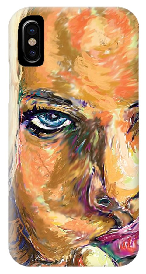 Jaime Pressly IPhone X Case featuring the painting Jaime Pressly by Travis Day