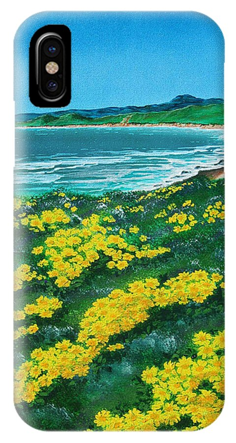 Jalama IPhone X Case featuring the painting Jalama Beach by Angie Hamlin