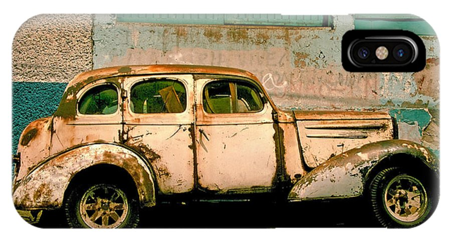 Skip IPhone X Case featuring the photograph Jalopy by Skip Hunt