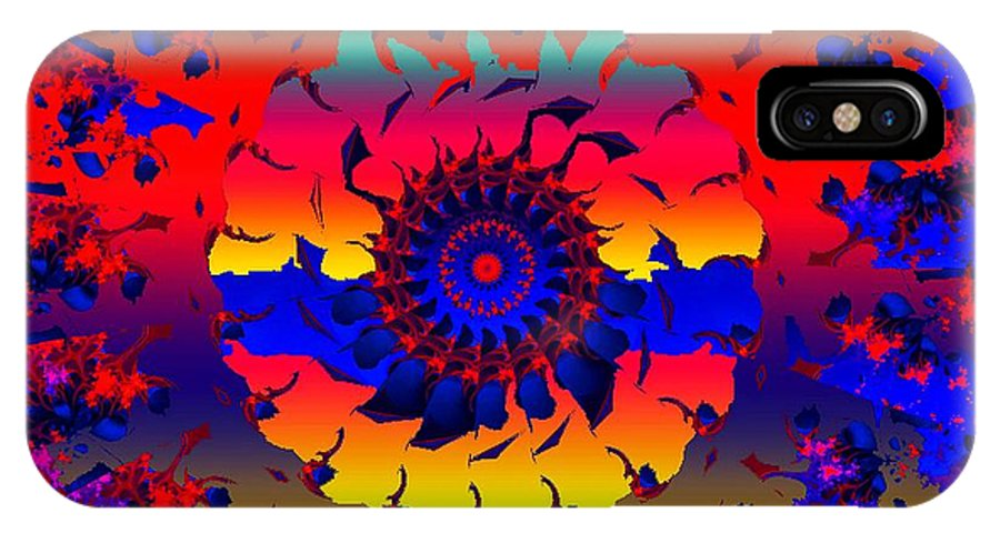 Wheel IPhone X Case featuring the digital art Jamaica Say You Will by Robert Orinski