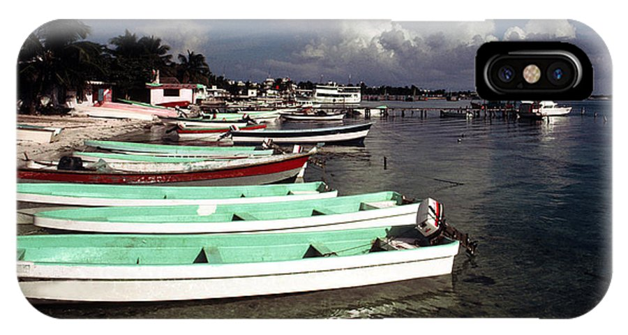 Fishing IPhone X Case featuring the photograph Jamaican Fishing Boats by Herman Robert