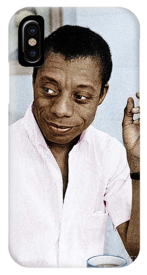 1950s IPhone X Case featuring the photograph James Baldwin by Granger