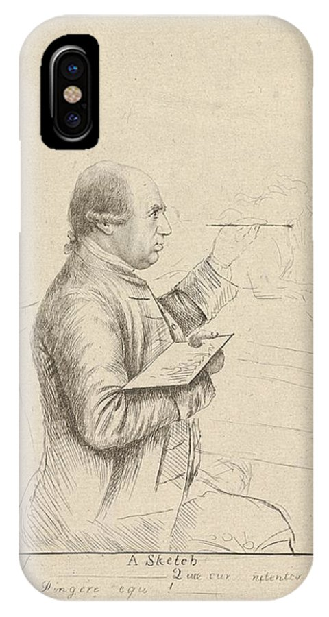 (portrait Of George Stubbs) By James Bretherton IPhone X Case featuring the painting James Bretherton by MotionAge Designs