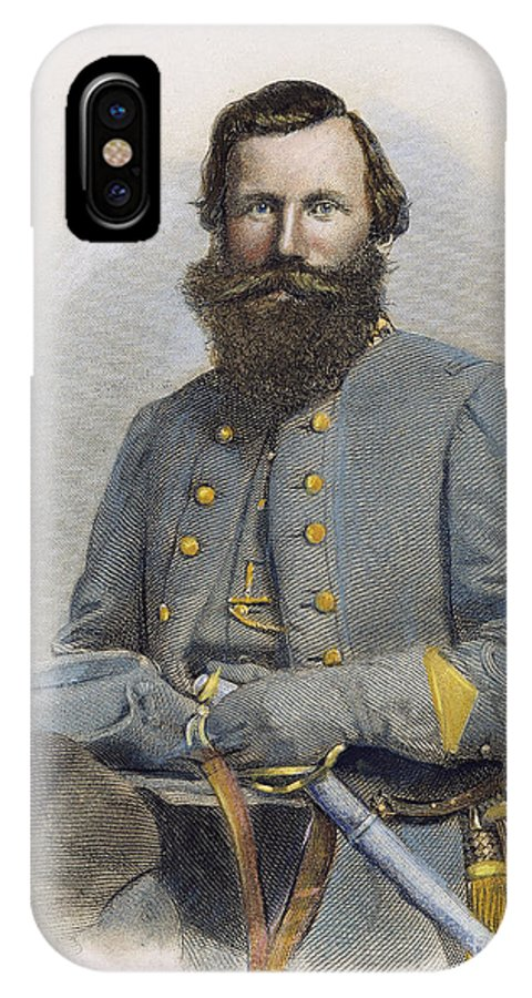 19th Century IPhone X Case featuring the photograph James E. B. Jeb Stuart by Granger