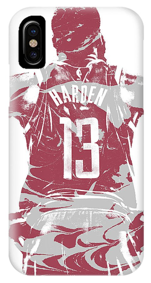 timeless design 124ab 47c83 James Harden Houston Rockets Pixel Art 50 IPhone X Case