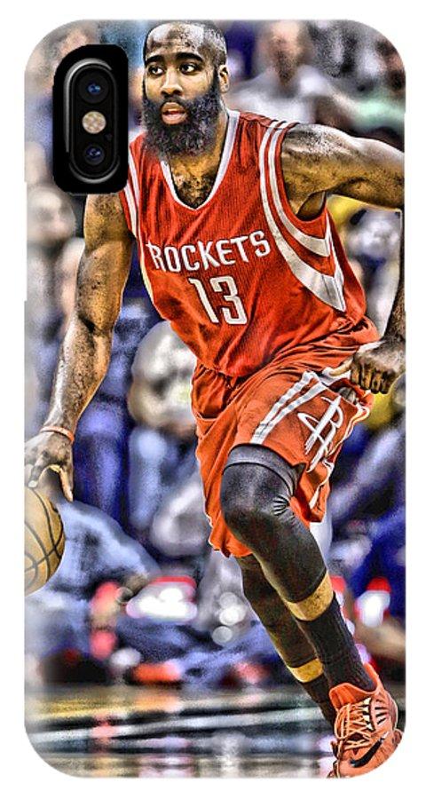 best sneakers c353c df0f3 James Harden Houston Rockets Players Art 1 IPhone X Case