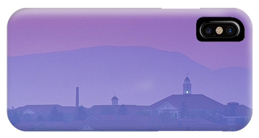 Dusk IPhone X Case featuring the photograph James Madison University At Dusk by Kenneth Garrett