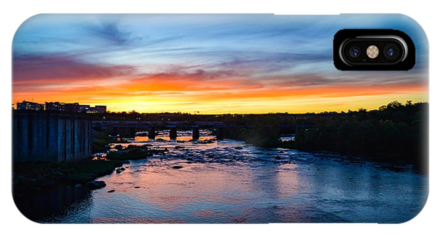 Richmond IPhone X Case featuring the photograph James River Sunset by Aaron Dishner