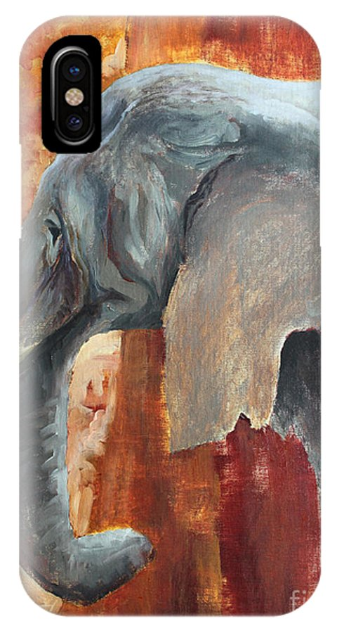 Animal IPhone X Case featuring the painting Jana by Todd Blanchard