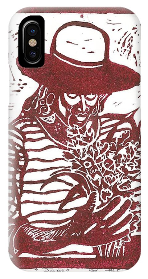 Jannie IPhone X Case featuring the painting Jannie by Everett Spruill