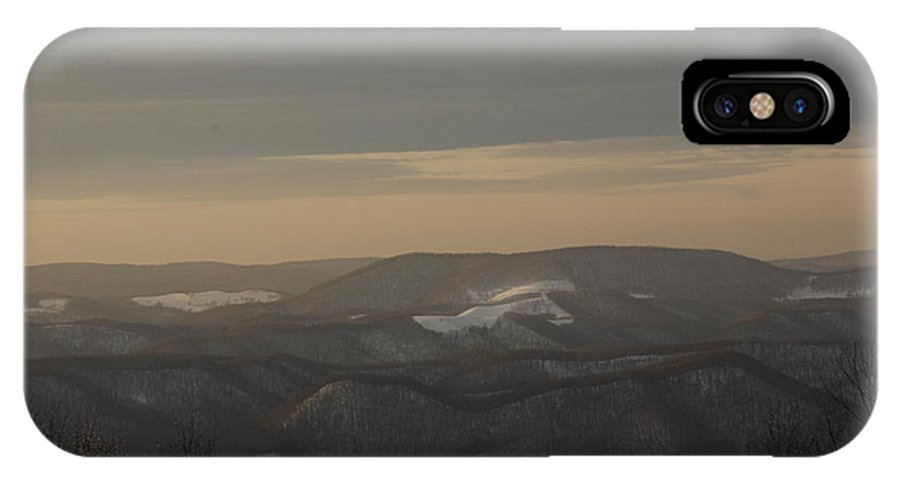 Winter IPhone X Case featuring the photograph January Evening by Randy Bodkins