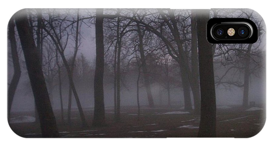 January IPhone X Case featuring the photograph January Fog 2 by Anita Burgermeister