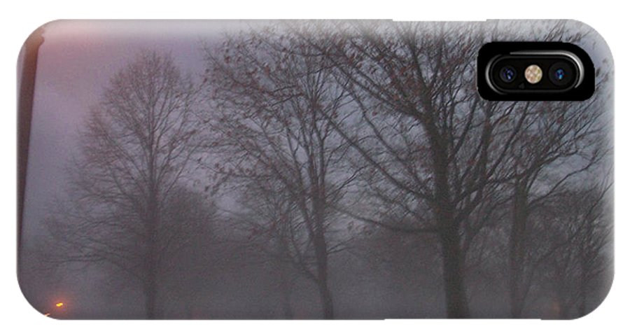 January IPhone X Case featuring the photograph January Fog 3 by Anita Burgermeister