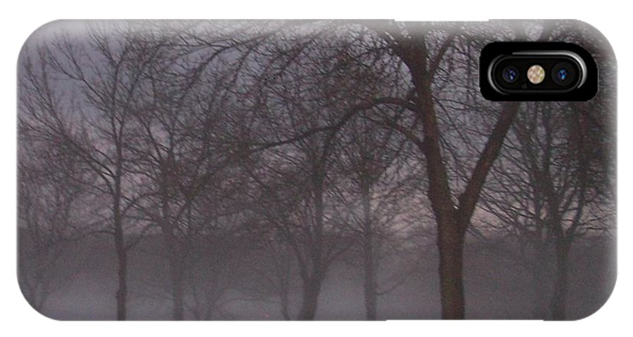 January IPhone X / XS Case featuring the photograph January Fog 4 by Anita Burgermeister