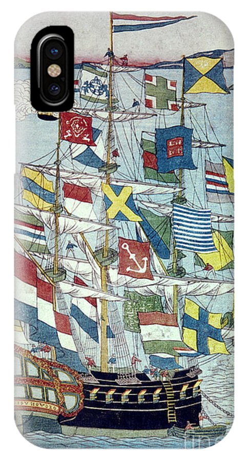 19th Century IPhone X Case featuring the photograph Japan: Dutch Ship by Granger