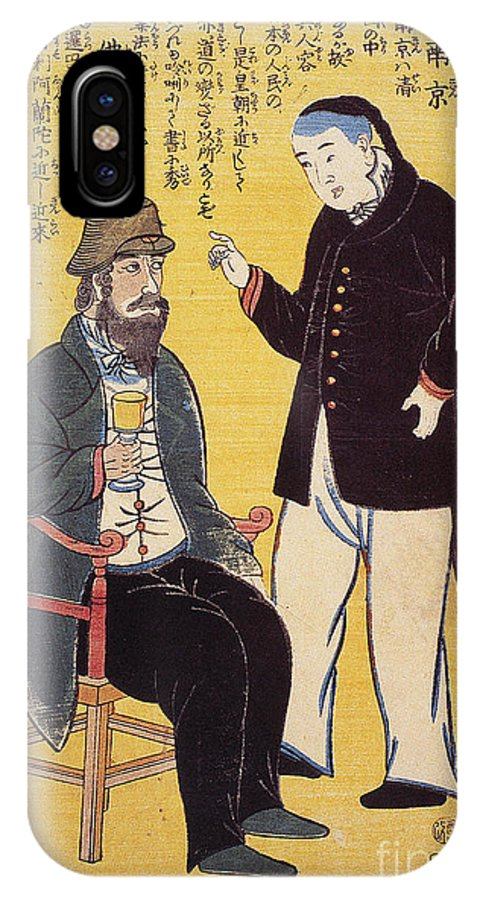 1861 IPhone X Case featuring the photograph Japan: French Trade, 1861 by Granger