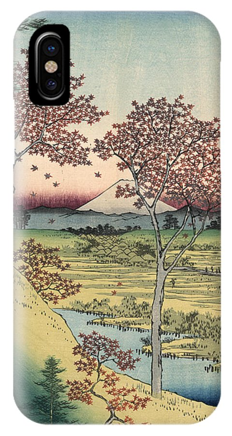 1858 IPhone X Case featuring the photograph Japan: Maple Trees, 1858 by Granger