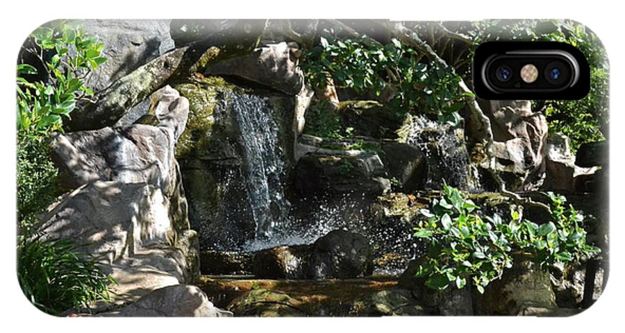 Garden IPhone X Case featuring the photograph Japanese Garden And Koi Pond by Carol Bradley