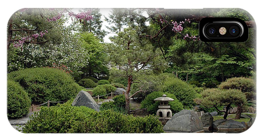 Japanese Garden IPhone X Case featuring the photograph Japanese Garden IIi by Kathy Schumann