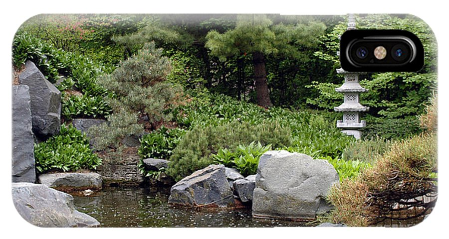Japanese Garden IPhone X Case featuring the photograph Japanese Garden Iv by Kathy Schumann