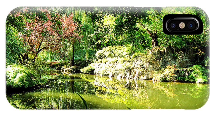 Japanese IPhone X Case featuring the photograph Japanese Garden by Jerome Stumphauzer