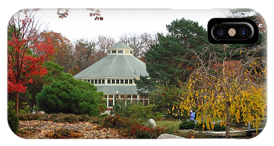Garden IPhone X Case featuring the photograph Japanese Garden Roger Williams Park by Barbara McDevitt