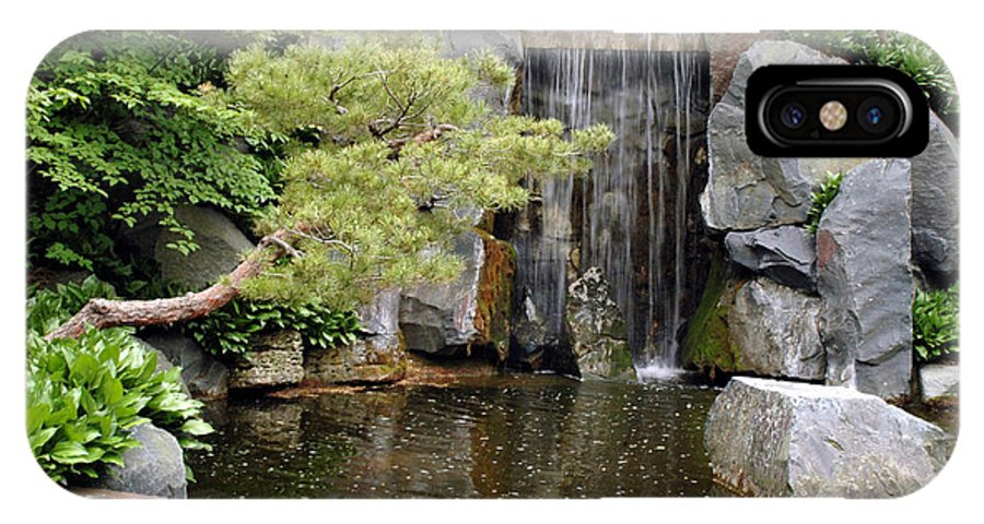Japanese Garden IPhone X Case featuring the photograph Japanese Garden V by Kathy Schumann