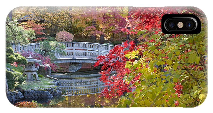 Gardens IPhone X Case featuring the photograph Japanese Gardens by Idaho Scenic Images Linda Lantzy